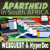 Apartheid in South Africa Web Quest with QR Codes