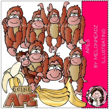 Melonheadz: Apes clip art - COMBO PACK