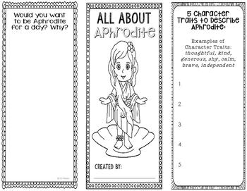 Aphrodite - Greek Mythology Biography Research Project - I