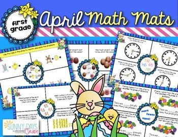 April Math Mats {first grade}