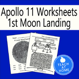 Apollo 11 Moon Landing Worksheets - History - First Lunar Landing