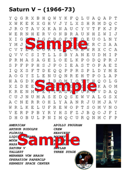 Apollo 11 Word Search Pack
