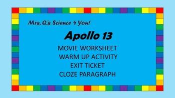 Apollo 13 Movie Worksheets