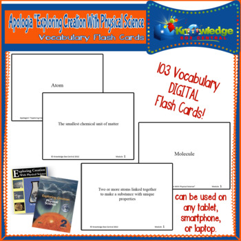 Apologia Expl. Creation W/ Physical Science Vocabulary Wor