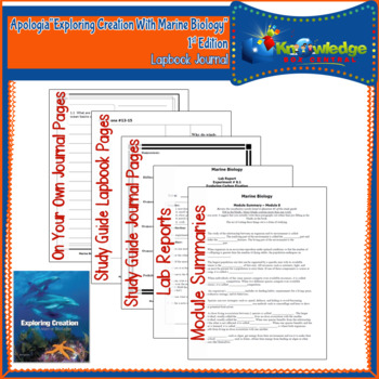 Apologia Exploring Creation With Marine Biology Lapbook Jo