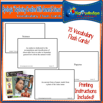 Apologia Exploring Creation w/ General Science Vocabulary