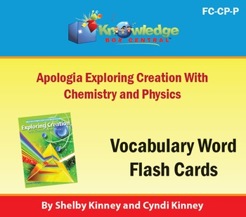 Apologia Exploring Creation with Chemistry & Physics Vocab