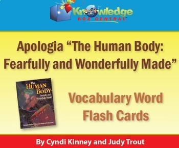 Apologia Human Body Vocabulary Word Flash Cards