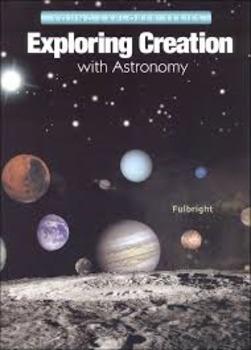 Apologia Lesson 8  Space Rocks Section Questions, Unit Tes