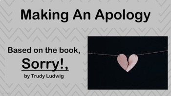 Apology - Forgiveness Social Skills Lesson -  4 Video link