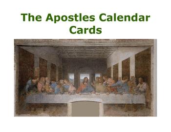Apostles Calendar Cards