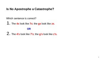 Apostrophe Grammar