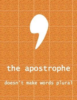 Apostrophe Punctuation Poster