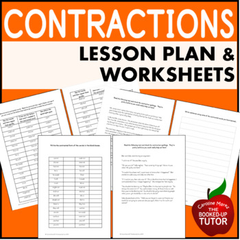 Apostrophes - Contractions Worksheets Workbook Lesson Plan