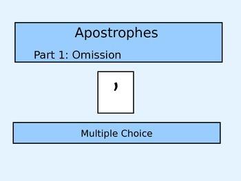 Apostrophes - Omission