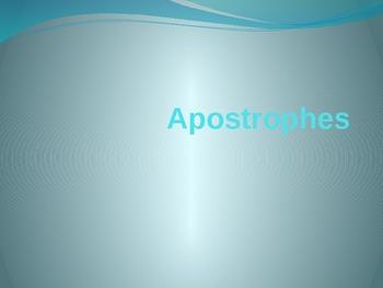 Apostrophes Power Point Presentation