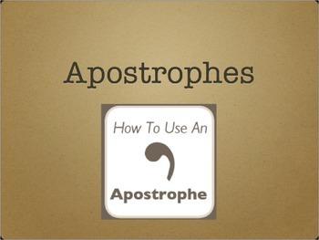 Apostrophes grammar lesson