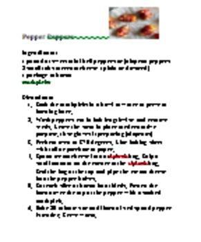 Appetizer Cooking Lab Recipes