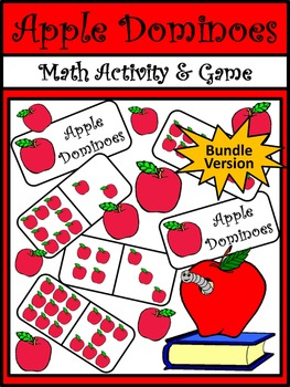 Apple Activities: Apple Dominoes Fall Math Activity Packet Bundle