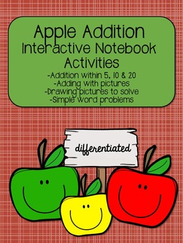 Apple Addition Interactive Notebook Activities