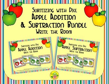 Apple Addition & Subtraction Bundle {Subitizing with Dice}