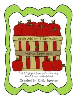 Apple Addition & Subtraction Center