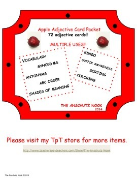 Apple Adjective Packet