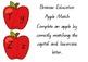 Apple Alphabet Matching Cards