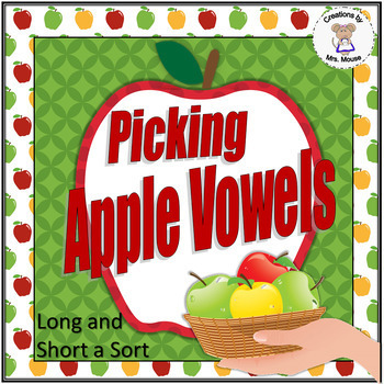 Phonics-Vowels - Picking Apple Vowels (Long & Short a)