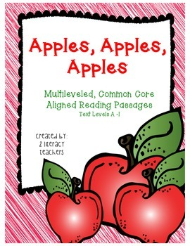 Apple, Apples, Apples: CCSS Aligned Leveled Reading Passag