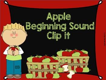 Apple Beginning Sound Clip It