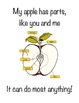 Apple Book- simple story book with leg print, poems, pictu