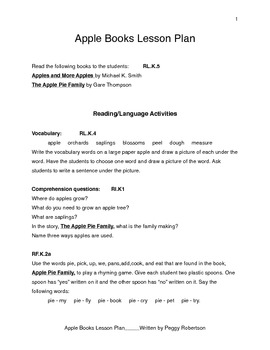 Apple Books Lesson Plan