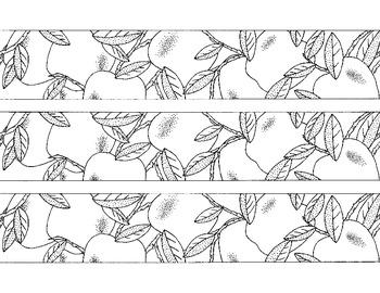 Apple Bulletin Board Border Printable Coloring Page PDF