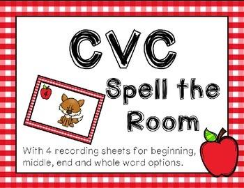Apple CVC Spell the Room