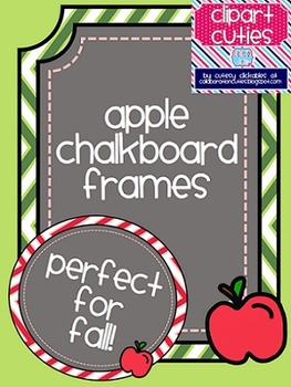 Apple Chalkboard Frames {Perfect for Fall!}