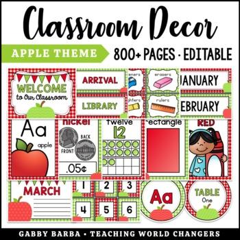Apple Classroom Decor