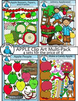 Apple Clip Art Multi-Pack - Chirp Graphics