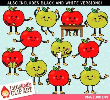 Happy Apple Clipart