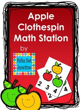 Apple Clothespin Math Station