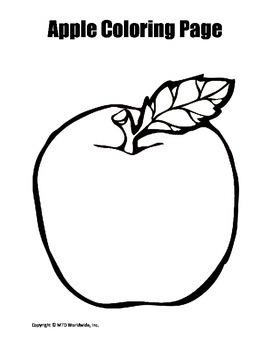 Apple Coloring Page Bundle
