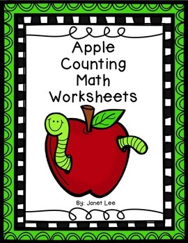 Apple Counting Math Worksheets