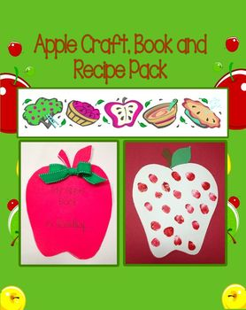 Apple Craft, Book, and Recipe Pack (Great for Johnny Apple