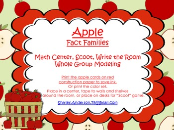 Apple Fact Family Scoot