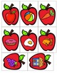 Apple Flashcards for Math and Literacy Centers