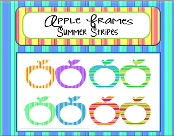 Apple Frames:  Summer Stripes