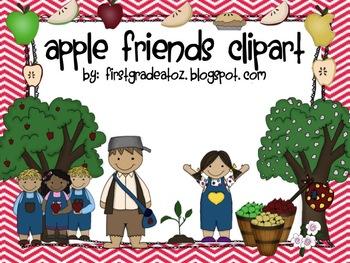 Apple Friends Clipart