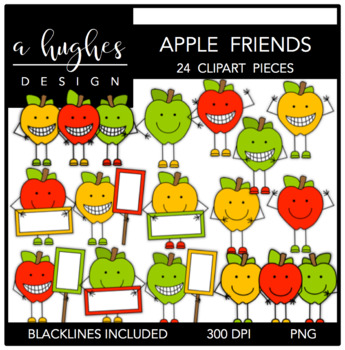 Apple Friends {Graphics for Commercial Use}