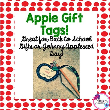 Apple Gift Tags! Great for Back to School Gifts or Johnny