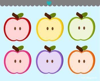 Apple Halves Clip Art